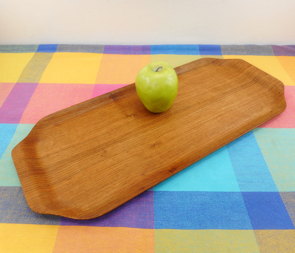 Ary Nybro Sweden Vintage Teak Pressed Serving Tray 8x20