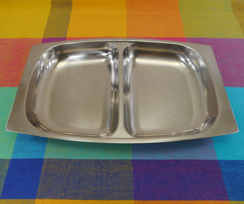 Arthur Salm AS Sweden Divided 18-8 Stainless Serving Dish Tray MCM