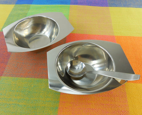 Vintage AS Arthur Salm Sweden - Minimalist Stainless Steel Sugar Creamer Spoon