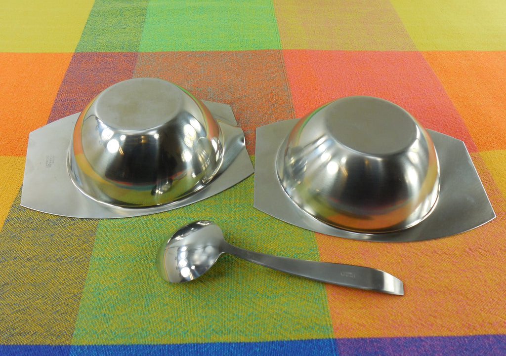 Vintage AS Arthur Salm Sweden - Minimalist Stainless Steel Sugar Creamer Spoon 4