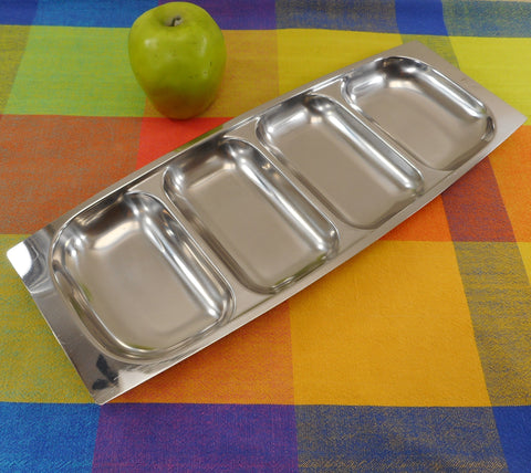 Arthur Salm AS Sweden 4 Part Divided 18-8 Stainless Serving Dish Tray MCM