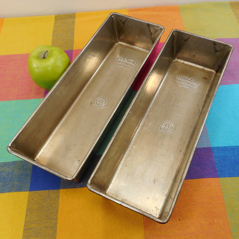 Bake King USA Pair No. 44 Rectangular Metal Loaf Pans 13""