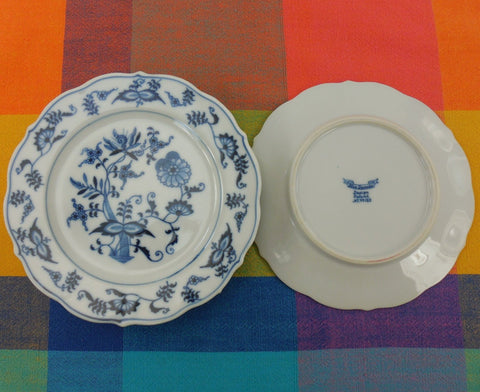 Blue Danube China Japan - 4 Set Bread and Butter Plates - Ribbon Banner Mark