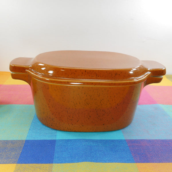 Bennington Potters Vermont 1855 Brown Covered Casserole Dish