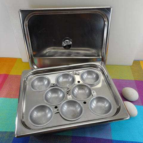 Bloomfield Ind. Inc. 4-1/2 Quart Steam Table Stainless Hot Tray 8 Cup Egg Poacher Commercial NSF