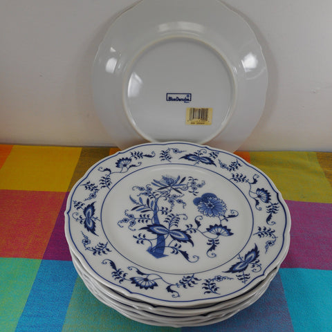 "Blue Danube Blue Onion Japan - 7 Dinner Plates 10"" - Block Mark NOS Unused"