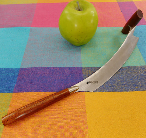 Boska Holland Double Wood Handle Rocking Cheese Slicing Knife