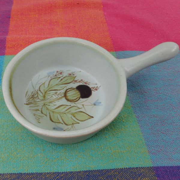 Buchan Stoneware Scotland Thistle Ware - 241 Ramekin Stick Handle