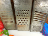 Bluffton 3 Set - Slaw Vegetable Cutter Grater - Vintage Tinned Steel Kitchen Tool... 4 cuts