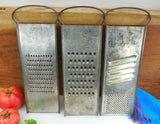 Bluffton 3 Set - Slaw Vegetable Cutter Grater - Vintage Tinned Steel Kitchen Tool...clean used