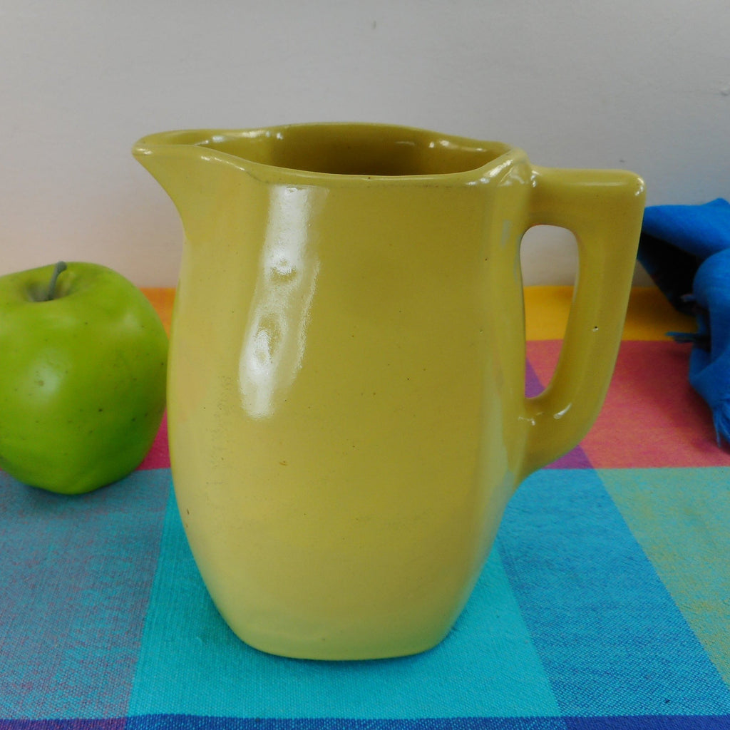 Bybee Pottery Kentucky Vintage Yellow Flatsided Pitcher 6""