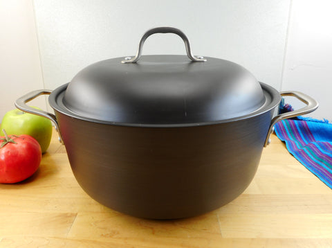 Calphalon Toledo OH USA - 7 Quart Dutch Oven Stock Pot & Lid Hard Anodized Aluminum