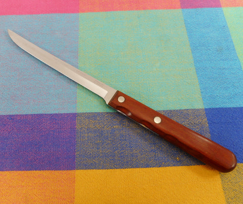 "Case XX USA Kitchen Knives Stainless Filet Boning Utility CAP 204-6"" Groove Wood Handle"