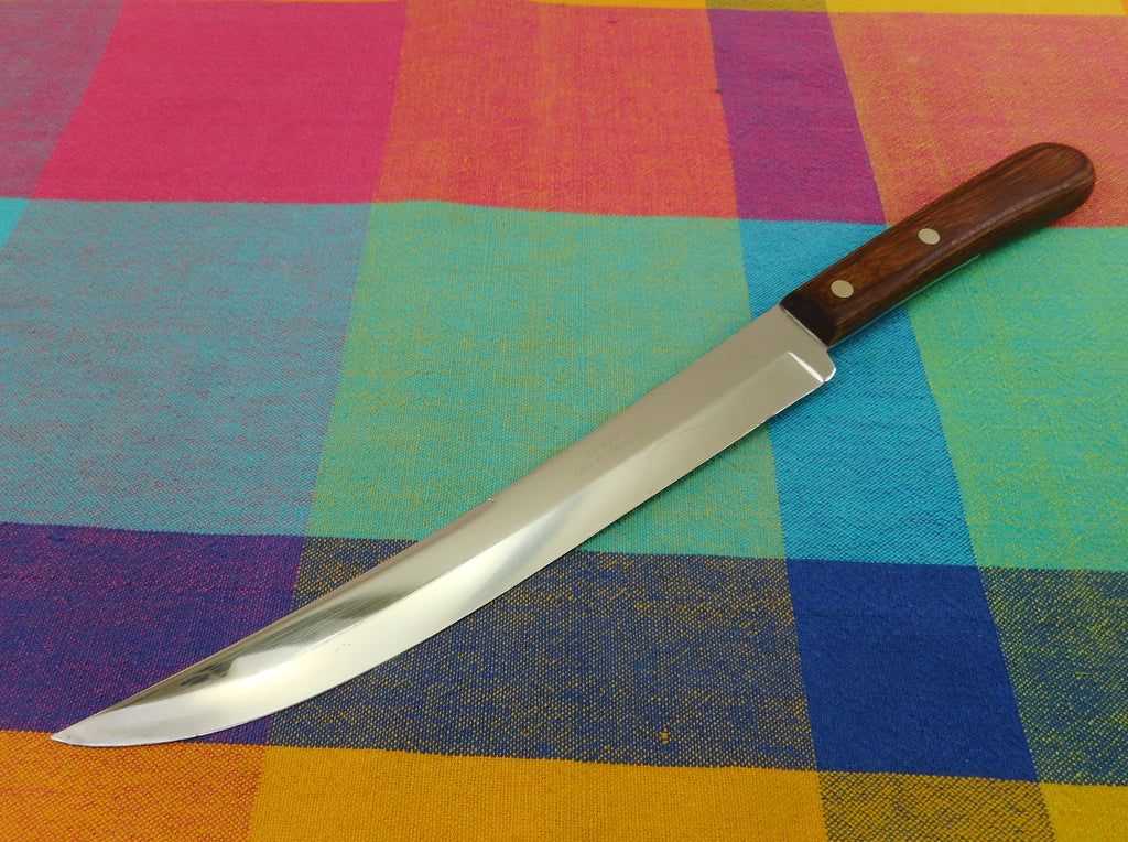 "Case XX USA Kitchen Knives Chromium Slicing Carving Knife CA 283-9"" Wood Handle"
