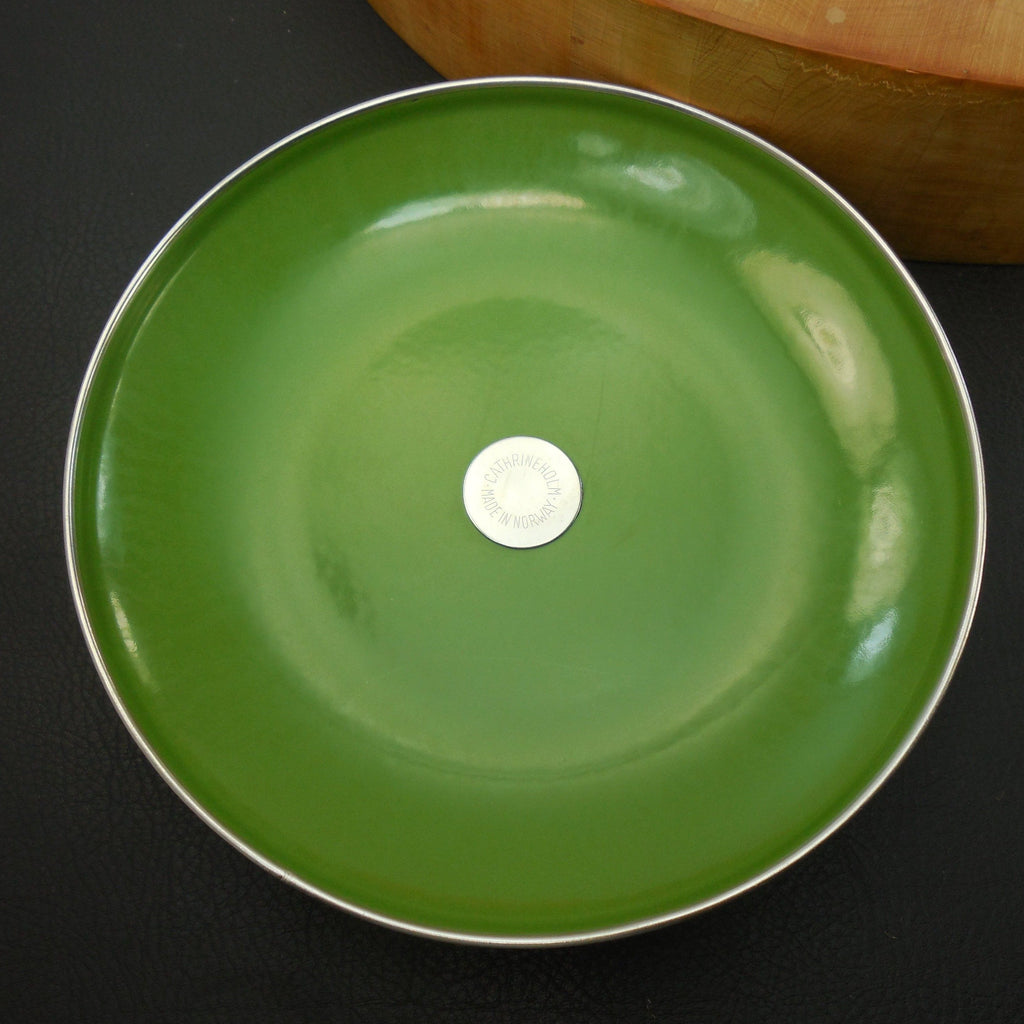 "Cathrineholm Norway Avocado Green - 8"" Replacement Cookware Lid Only... clean used"
