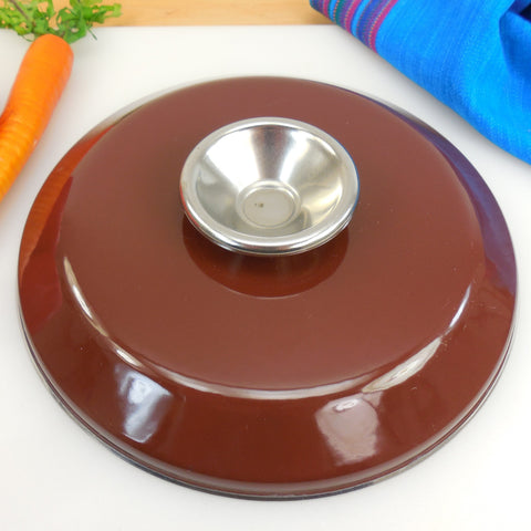 "Cathrineholm Norway - Chocolate Brown Saucepan Pot Lid - 8"" - Lid Only"