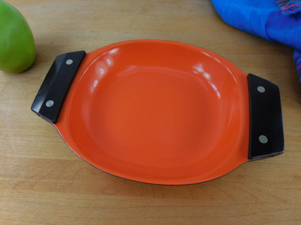 Vintage Cathrineholm Orange Enamel Steel Mod Serving Tray