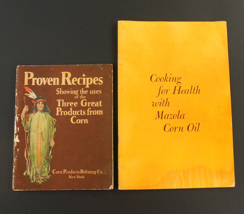 Two Vintage Recipe Booklets - Corn Products Refining Co. - 1959 Mazola Oil - 1930s Karo Argo Mazola