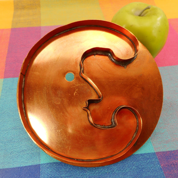 Martha Stewart Living MSL Solid Copper Cookie Cutter - The Man In The Moon 6""