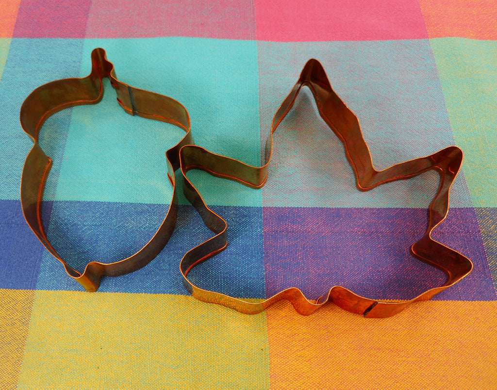 Williams Sonoma Solid Copper Cookie Cutters - Maple Leaf & Acorn Vintage Used