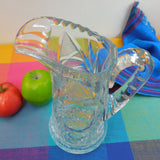 "ABP American Brilliant Cut Glass Water Pitcher - Pinwheels Starburst 10"" Scalloped Rim"