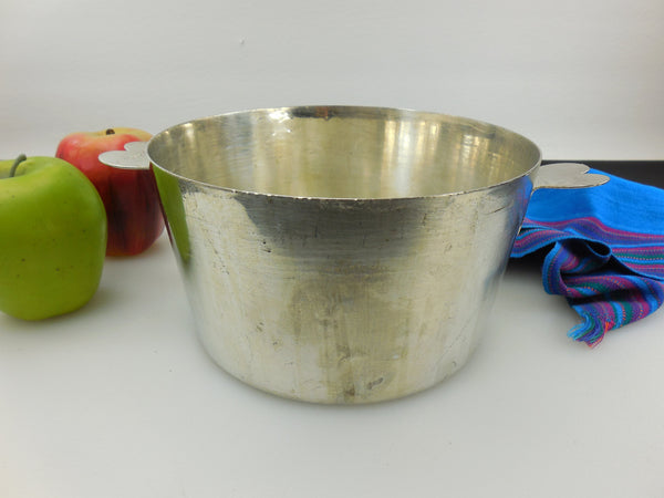 French France Tinned Steel Charlotte Food Mold - 18 cm - Heart Handles