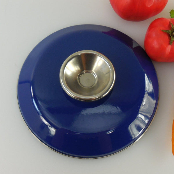 Cathrineholm Norway - Cobalt Blue Saucepan Pot Lid - 7-1/2""