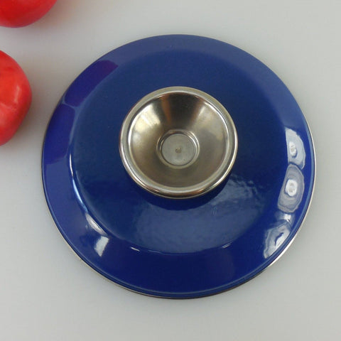 Cathrineholm Norway - Cobalt Blue Saucepan Pot Lid 6-3/4""