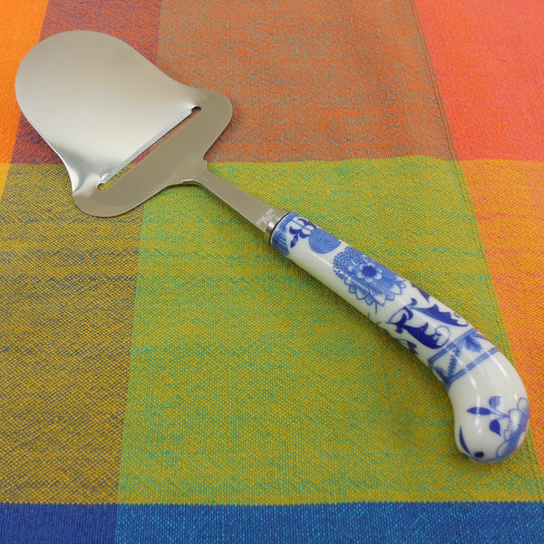 Blue Onion Blue Danube Cheese Plane Slicer - Porcelain Handle