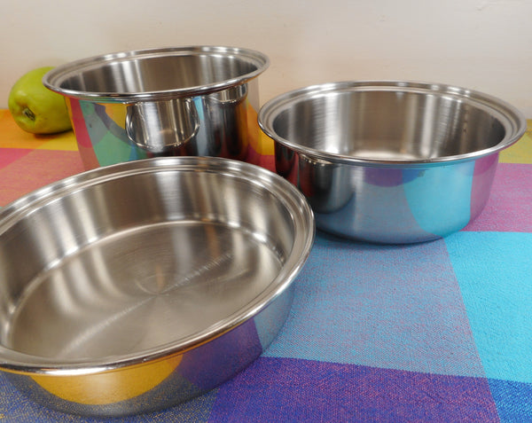 Towncraft West Bend Chef's Ware Re-purposed Saucepan Stainless Bowl 3 Set