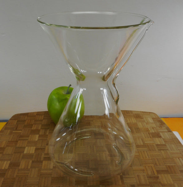 "Pyrex Chemex Glass Coffee Maker 8 Cup 9-1/2"" - Vintage Green Stamp No Collar"
