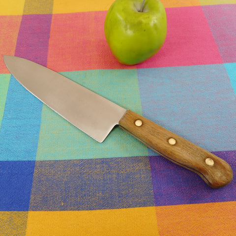 "Chicago Cutlery USA Kitchen Knives - 42S Chef 8"" Walnut Handle Stainless Steel"