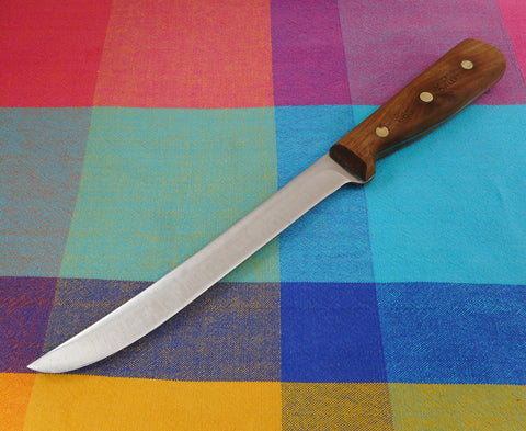 "Chicago Cutlery USA Kitchen Knives - 66S Boning 8"" Walnut Handle Stainless Steel Used Vintage"