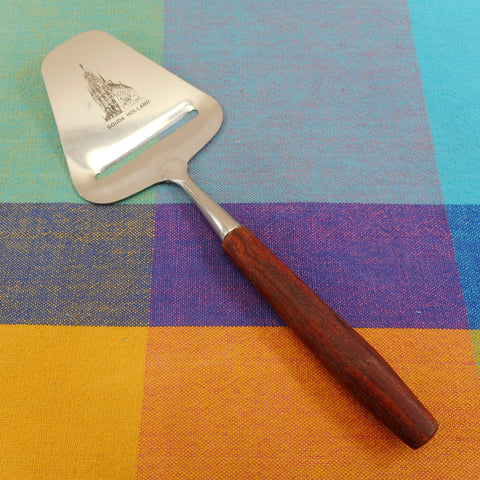 Boska Gouda Holland Town Hall - Cheese Butter Plane Slicer Utensil - Wood Handle Stainless Steel