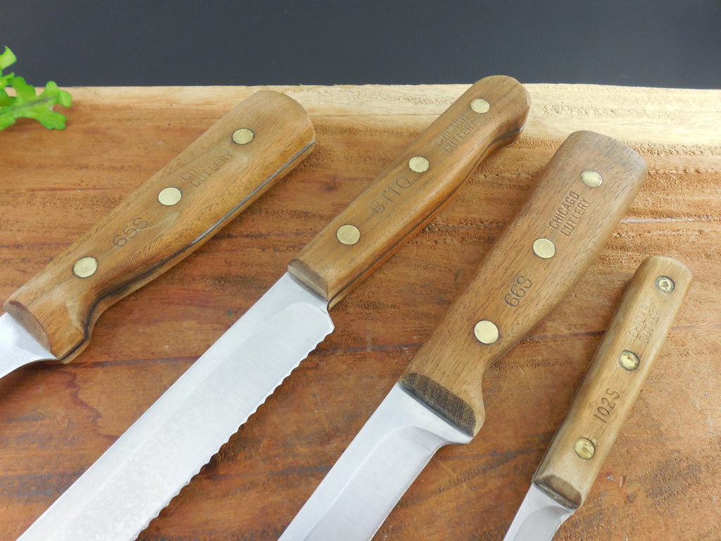 Sold Chicago Cutlery 4 Kitchen Knives Set Stainless