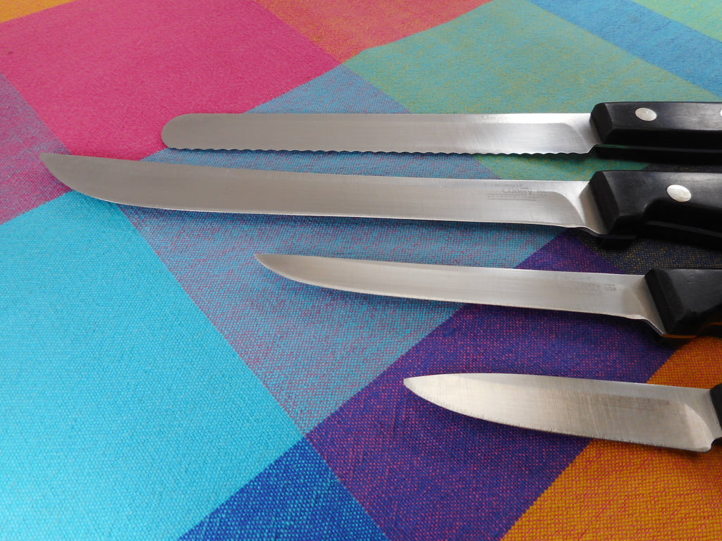 Chicago Cutlery USA Metropolitan Kitchen Knives 4 Used - Paring Bread Slicing Boning Carving 507 529 562 566