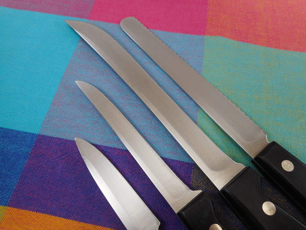 Chicago Cutlery USA Metropolitan Kitchen Knives 4 Used - Paring Bread Slicing Boning Carving Clean