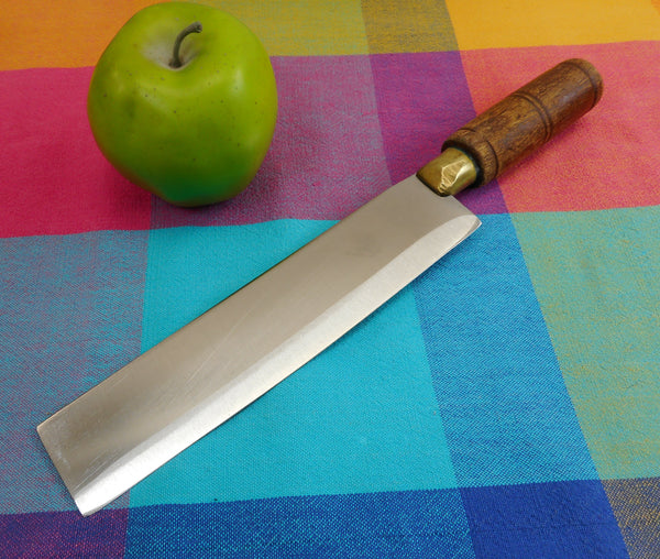 "SOLD... Unbranded Chinese Cleaver Kitchen Knife 1-3/4"" x 8"" Blade Stainless"