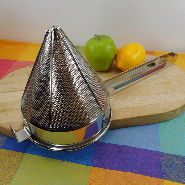 "China Cap Chinois Stainless 7"" Strainer Sieve Cone"