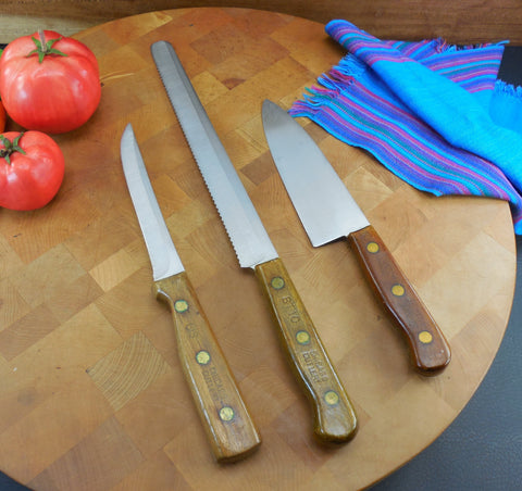 Kitchen, Dining & Bar Home & Garden Candid Two Everyday Living Nonstick Knives And One Professional Farberware Paring Knife