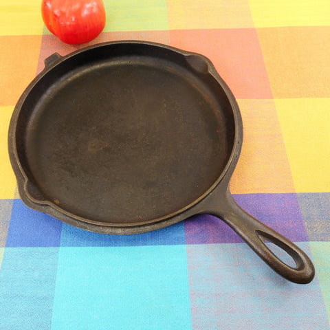 Unmarked Maker Vintage #7 Cast Iron Hinged Combo Double Skillet Lid