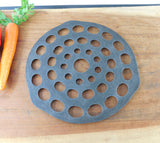 Vintage Cast Iron Trivet for Dutch Oven - Unmarked Maker #8