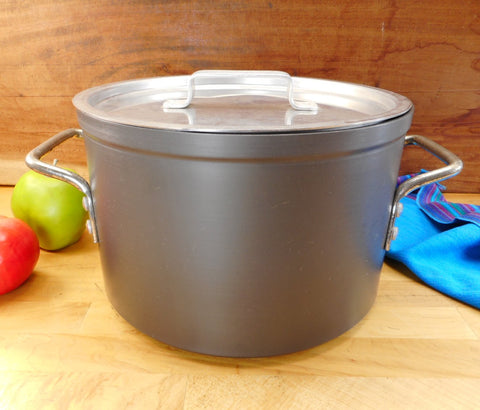 Leyse USA Hard Anodized 8-1/2 Quart Stock Pot & Lid - Vintage NSF Commercial Cookware