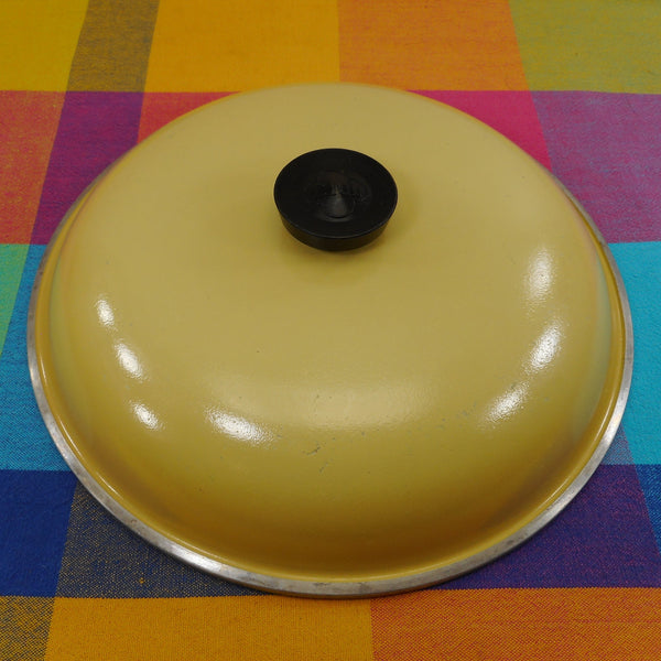 "Club Aluminum USA 12"" Lid Harvest Gold Yellow - for Large Skillet or Stock Pot"