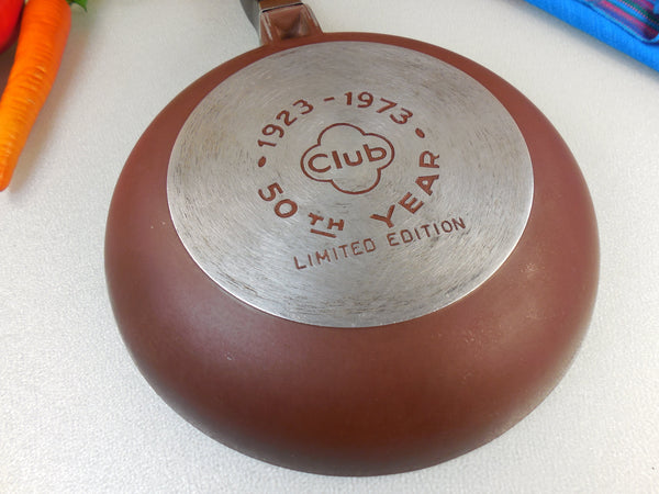 "Club Aluminum 8.5"" Omelet Pan Skillet - 1923-1973 50th Year Limited Edition Brown"
