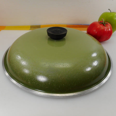 "Club Aluminum USA 12"" Lid Green - for Large Skillet or Stock Pot"