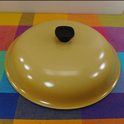 "Club Aluminum USA 11-3/4"" (12"") Lid Harvest Gold Yellow - Square Knob - for Large Skillet or Stock Pot"