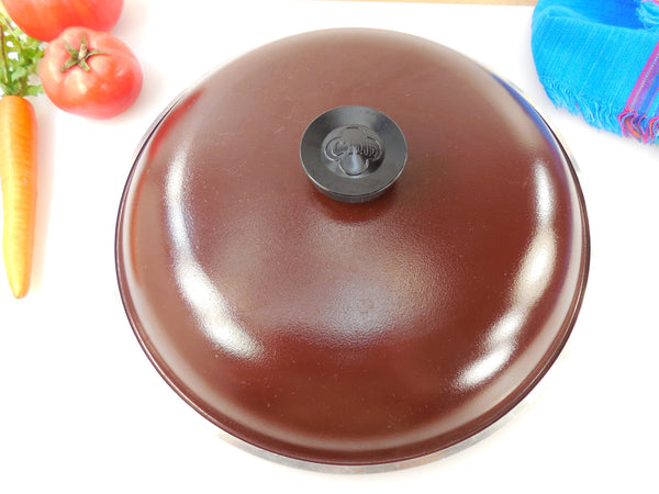 "Vintage Club Aluminum Cookware 12"" Brown Vintage Replacement Lid"