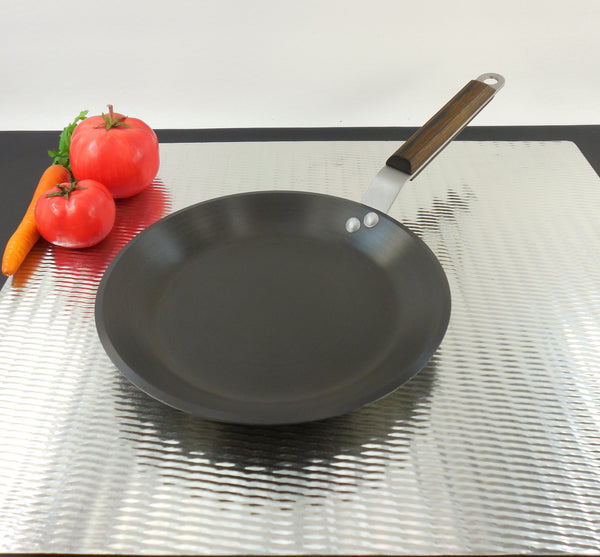 SOLD Commercial Cookware Toledo (Calphalon) Anodized Aluminum - NSF Crepe Pan Shallow Skillet - G188HC Wood Handle