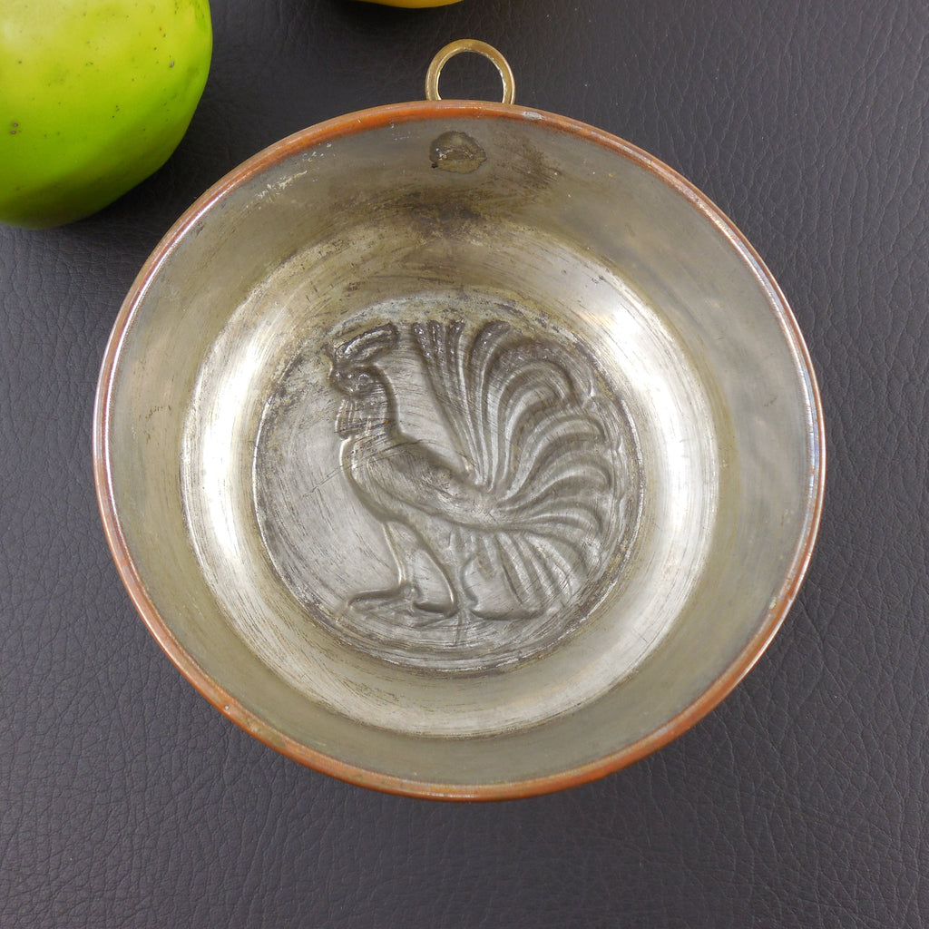 Sold Copper Tin Food Mold Baking Pan Rooster 5